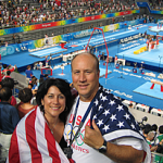 Robert Andrews and his wife at the 2008 Summer Olympics